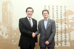 Eric with Taiwan president