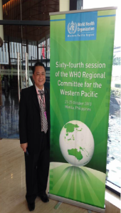 Dr Bu Castro at 64th WHO regional committee meeting