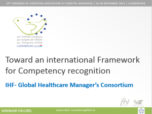 EAHM congress competency framework presentation